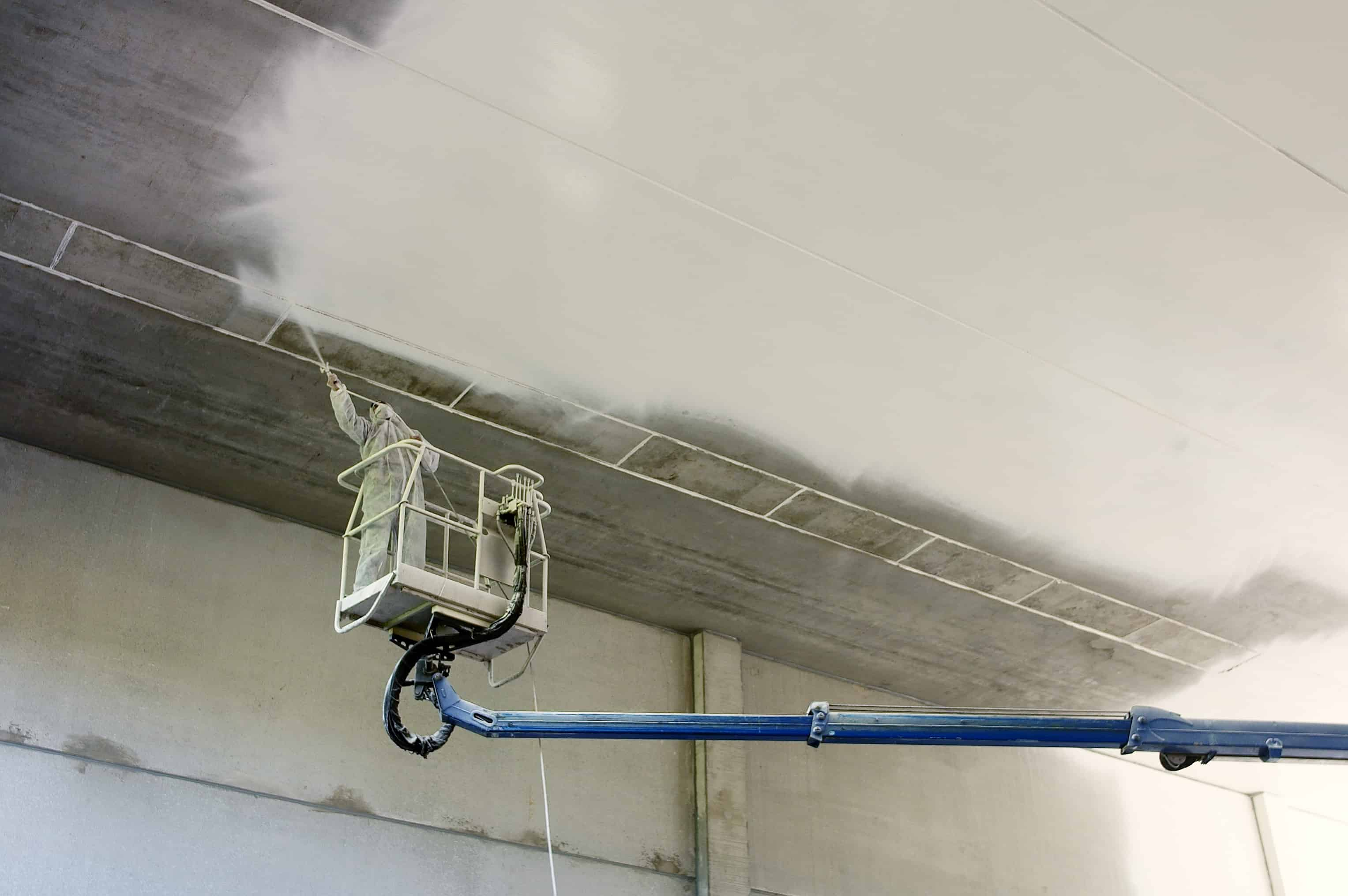 Painting of industrial ceiling