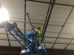 Ceiling dust collection