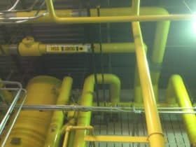 Freshly painted piping