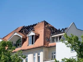 Fire Damaged Roof