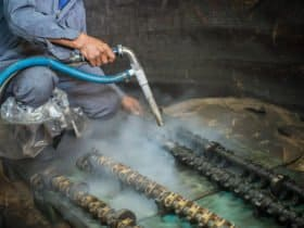 Dry Ice Blasting of delicate equipment