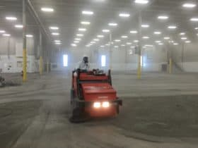 Cleaning & prepping a warehouse floor