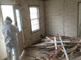 Mold remediation teardown